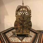 Lantern Clock Fusee Passing Strike Large And Heavy
