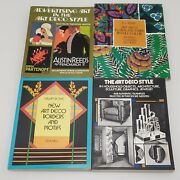 Art Deco Lot Floral Patterns Full Color Borders Motifs Advertising Jewelry