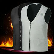 Usb Warm Up Heating Pad Electric Heated Vest Jacket Body Warmer Winter Clothing