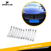 Fit For Maserati Ghibli 14-17 Chromed Front Grille Decorative Cover Trim 12pcs