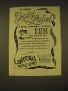 1955 Siegert Gold Label Rum And Angostura Aromatic Bitters Advertisement