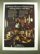 1974 Bandg Barton And Guestier Wine Ad - Celebrate 250 Years Of French Wine