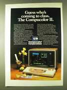 1979 Compucolor Ii Computer Ad - Who's Coming To Class