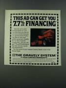 1986 Gravely Lawn Tractor Ad - This Ad Can Get You 7.7 Apr Financing