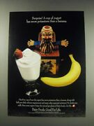 1991 National Dairy Board Ad - Surprise A Cup Of Yogurt Has More Potassium