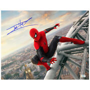 Tom Holland Autographed Spider-man Far From Home 11x14 Scene Photo