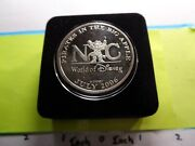 Mickey Mouse Disney Pirates In The Big Apple New York 1996 Silver Nickel Coin