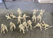 Marx Ww2 Us Gi's 60mm 20 Figures Cream Color Reproductions Classictoysoldier