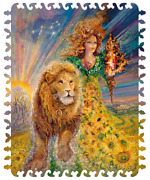 Jigsaw Puzzles 100pieces Wooden New Russian Zodiac Sign Lion Josephine Wall