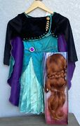 New Disneyand039s Frozen Ii Anna Costume Dress Up Wig And Dress Costume Cosplay 4-6x