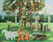 Puzzles Jigsaw 250 Pieces Wooden New Russian Cats Maslenitsa Animals Gift