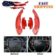 Red Steering Wheel Paddle Shifter Extension For Honda Accord Civic Cr-v Acura