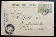 1899 Roustchouk Bulgaria Postal Stationery Postcard Cover To Manchester England