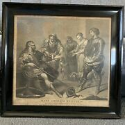 18th Century Engraving After Vandyke Painting Framed Mint Condition