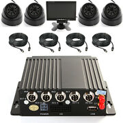 4ch Ahd Car Mobile Dvr Wifi 3g Gps + 4 Camera + Video Power Cable 7 Screen Kit