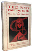 The Red Fortune Book By Nell St. John Montague Tarot 1924 1st W Cards Hcdj