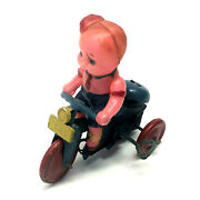Vintage Yonezawa Circus Tricycle 385, Celluloid, Wind-up, W/box, Occupied Japan