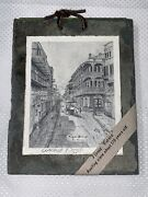 New Orleans Antique Roofing Slate Black/white Vieux Carreand039 Archie Boyd 7andrdquox 5.5andrdquo
