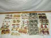 Lot Vintage Stereoview Cards Stereo View World Scene Comic Quaker Oats