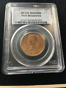 1861 Pcgs Graded New Brunswick Andcent1 Cent Ms-65