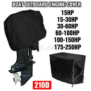 210d Oxford Full Outboard Boat And Engine Covers For 15-250hp Motor Waterproof Us