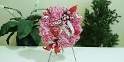 deco Mesh Front Door Wreath Christmas Ice Skate Peppermint Candy Home Decor