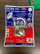 Retro Vintage 1950and039s 1960and039s Wheel Rim Hubcap Safety Locks Nos Ratrod Low Rider