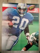 1997 Topps Promo Poster 17 X 22 Barry Sanders