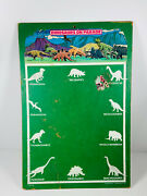Vintage Dinosaurs On Parade Playset Chalkboard Toy Masonite