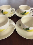 Cup Of Gold Santa Anita Ware Flowers Of Hawaii China 4 Cups And 4 Saucers