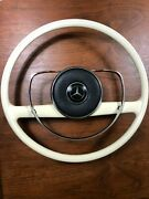 Restored Mercedes M100 600 W100 Early Style Ivory Steering Wheel And Pad Swb Lwb