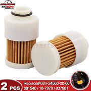 2x Fuel Filter For Yamaha Outboard 50 Hp F50tlrd T50tlrd 2005 Mal Part 937961