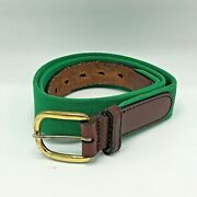 Canterbury Belt Green Stretch And Leather Golf Belt Fabric Kelly Green 32