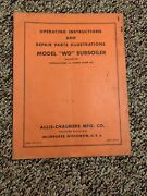 Allis Chalmers Model Wd Subsoiler Operating And Repair Parts Instructions