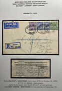 1930 Belfast England Early Airmail Service Cover To East London South Africa
