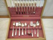 Morning Star Silverplate Dinner Set And Chest Oneida Community Flatware 53pc Lot