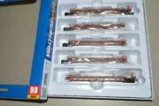 Ho Walthers Bnsf Ry Thrall 40' Rebuilt Containers Well Car Train Set 5-unit