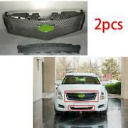 For Cadillac Xts 2013 2014-2017 Abs Black Front V-type Grille Grill Mesh Trim