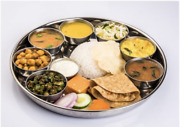 Stainless Steel Thali / Plate Lunch Plate 13 Round With Border / Edged Border