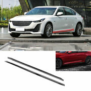 Fit For Cadillac Ct5 2019-2020 Exterior Door Panel Trim Side Skirts 2pc Abs Gray
