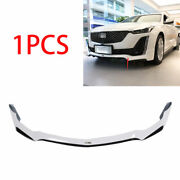 Fit For 2019-2020 Cadillac Ct5 Abs Black White Front Bumper Lip Spoiler Splitter