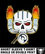 Old School Hardcore Wicked Hot Rod Blower Supercharger Skull Car T-shirt Tb19