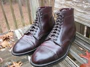 Alden D5812 Size 8.5 E. 9-eyelet Color 8 Shell Cordovan Perforated Cap Toe Boots