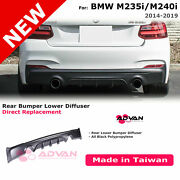 Performance Style Black Bumper Rear Diffuser For Bmw 2-series F22 F23 2014-2019