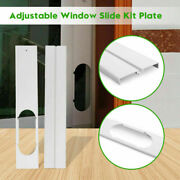 2x Adjustable Window Slide Kit Plate For Portable Air Conditioner Wind Shield T3