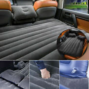Universal Car Flocking Inflatable Bed Air Mattress Seat Cover For Travel/camping