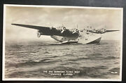 Mint Real Picture Postcard Pan American Flying Boat Yankee Clipper Paa