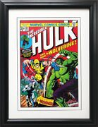 Marvel The Incredible Hulk 181 With Wolverine Framed Comic Book Poster Logan