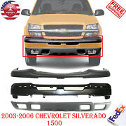 Front Bumper Paint To Match + Upper + Valance For 03-06 Chevrolet Silverado 1500