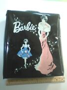 Vintage 1960's Barbie Ponytail Black Case With 3 Dolls And Clothes